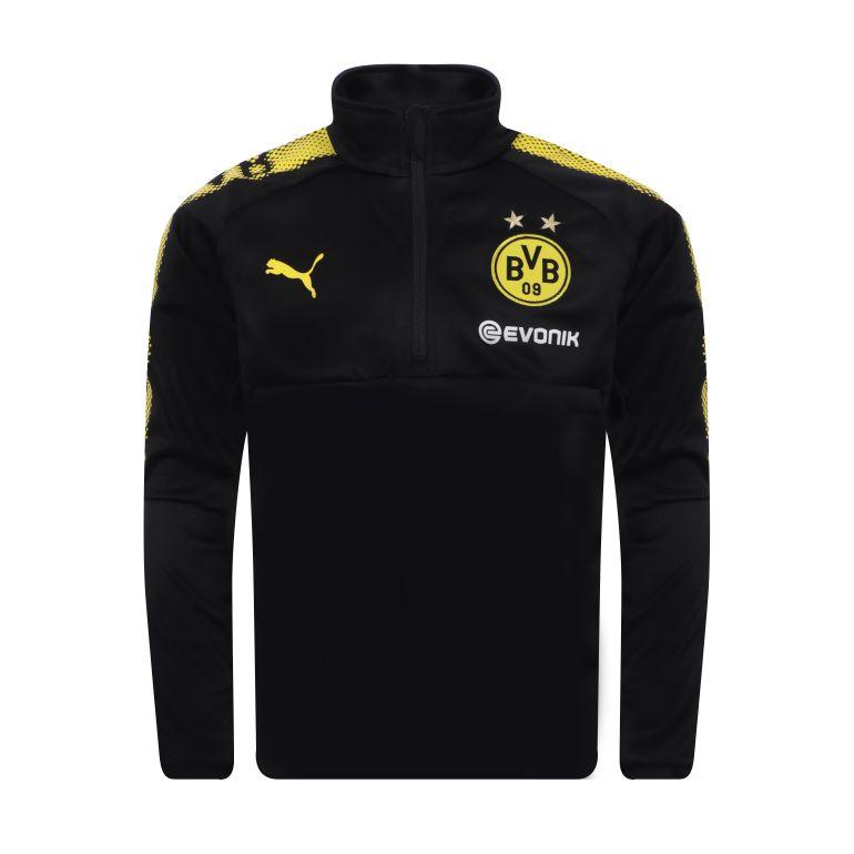 Sweat zippé junior Dortmund noir 2017/18