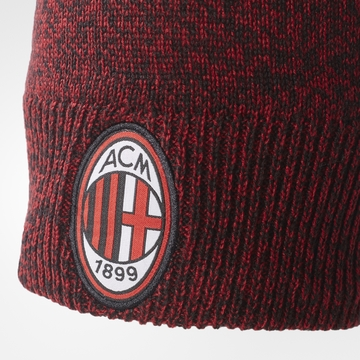 Bonnet Milan AC rouge noir 2017/18