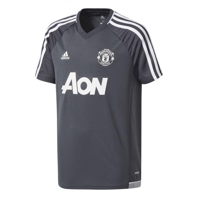 Maillot entraînement junior Manchester United gris noir 2017/18