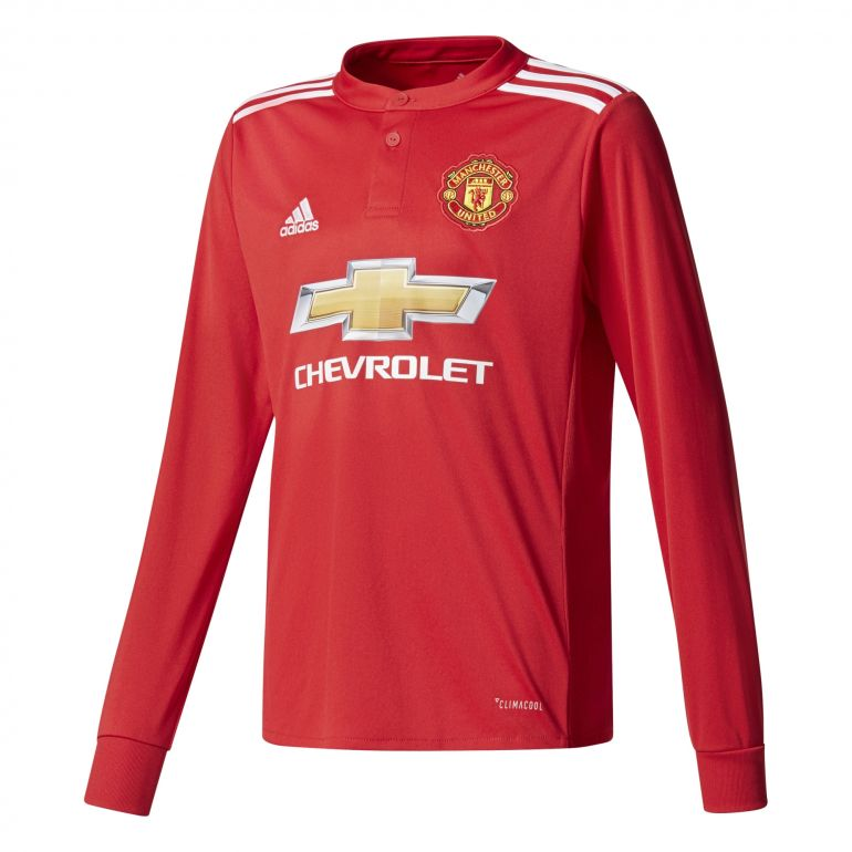 Maillot junior Manchester United manches longues domicile 2017/18