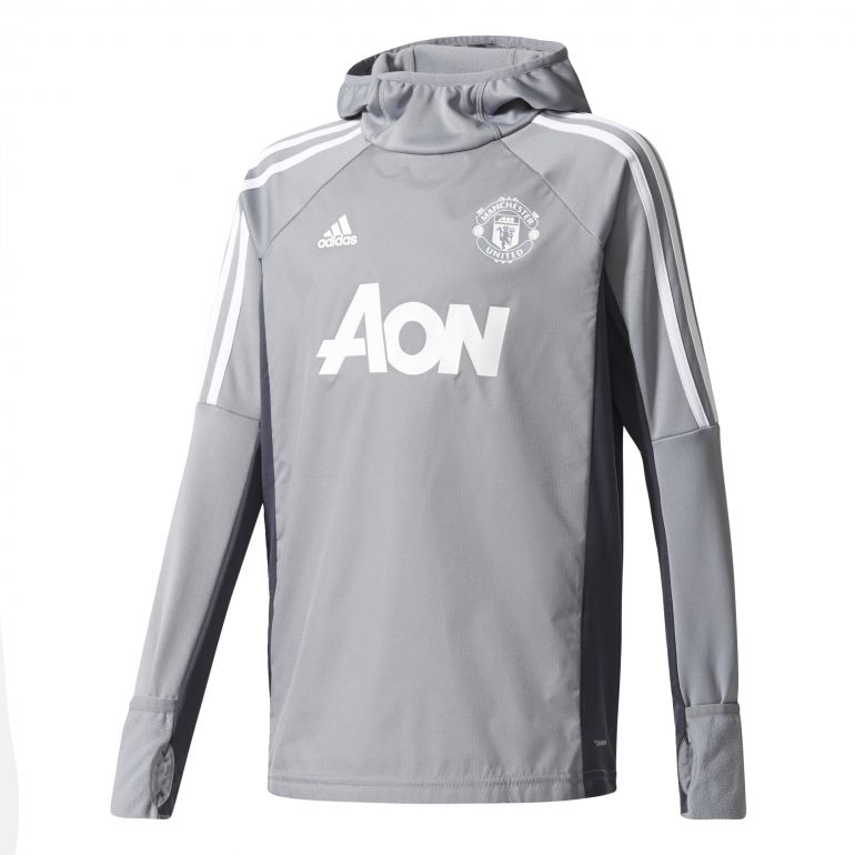 Sweat à capuche junior Manchester United gris 2017/18