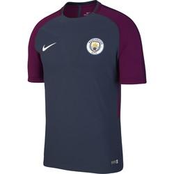 Maillot entraînement Manchester City technique bleu rouge 2017/18