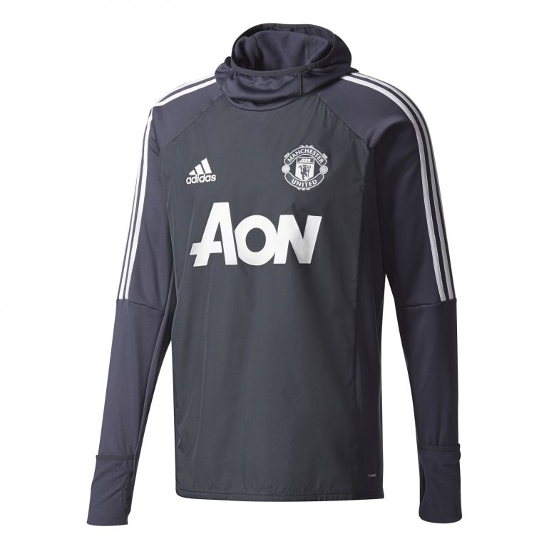 Sweat à capuche Manchester United noir 2017/18