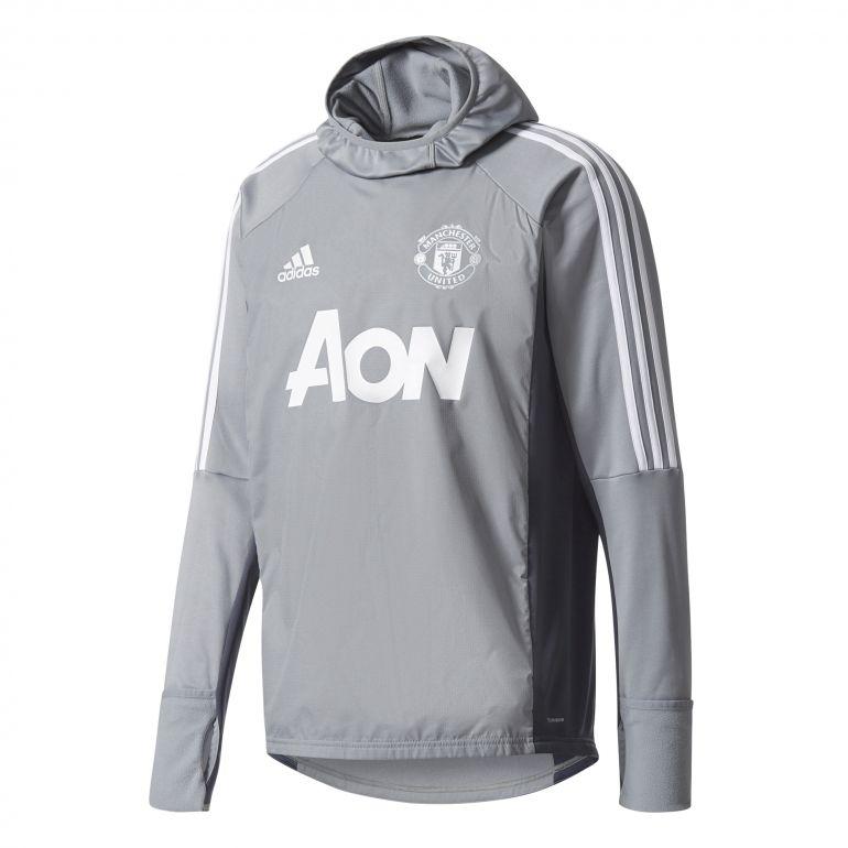 Sweat à capuche Manchester United gris 2017/18