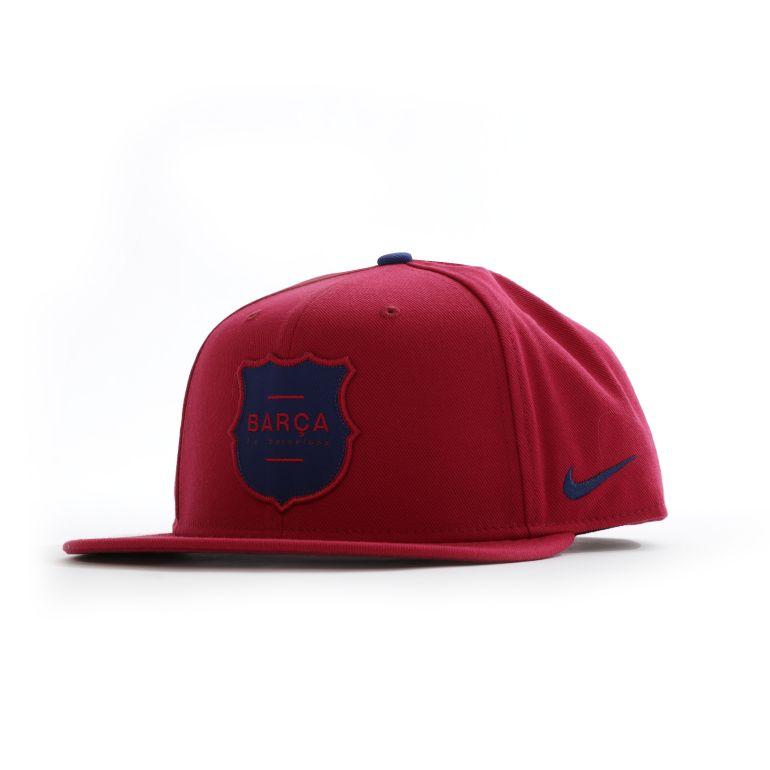 Casquette visière plate FC Barcelone rouge 2017/18