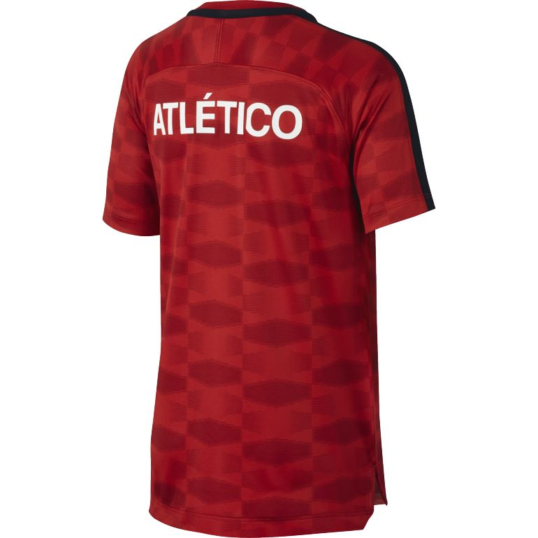 maillot entra nement junior atl tico madrid rouge noir 2017 18 sur. Black Bedroom Furniture Sets. Home Design Ideas