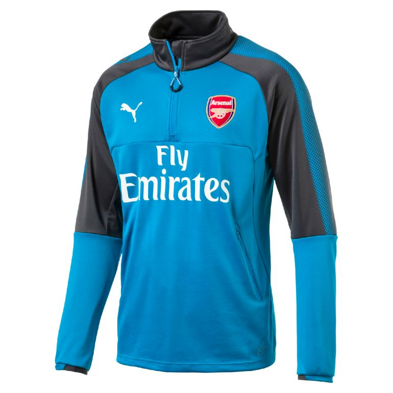 Sweat zippé junior Arsenal bleu 2017/18