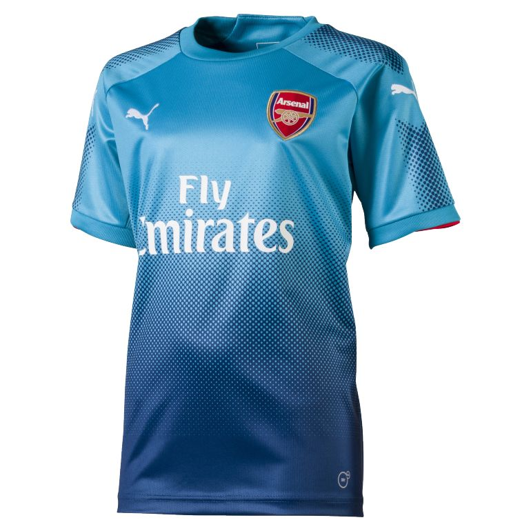 Maillot junior arsenal ext rieur 2017 18 sur for Maillot exterieur om 2017