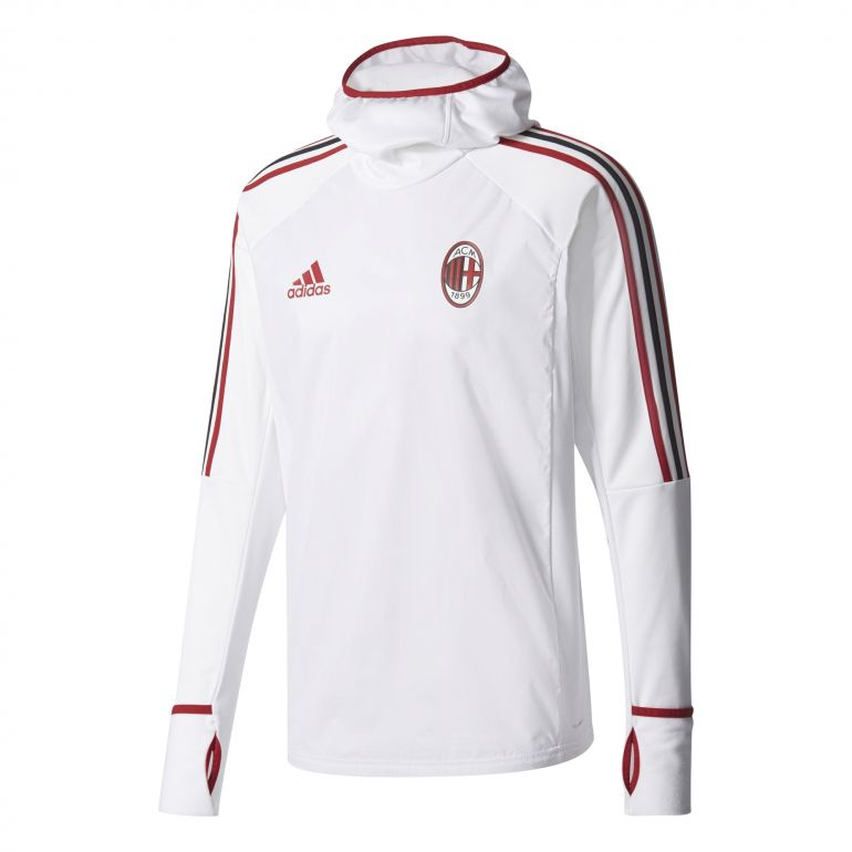 Sweat à capuche Milan AC blanc 2017/18