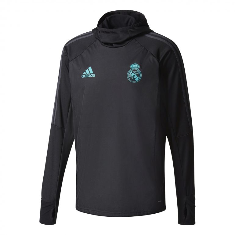 Sweat à capuche Real Madrid noir 2017/18