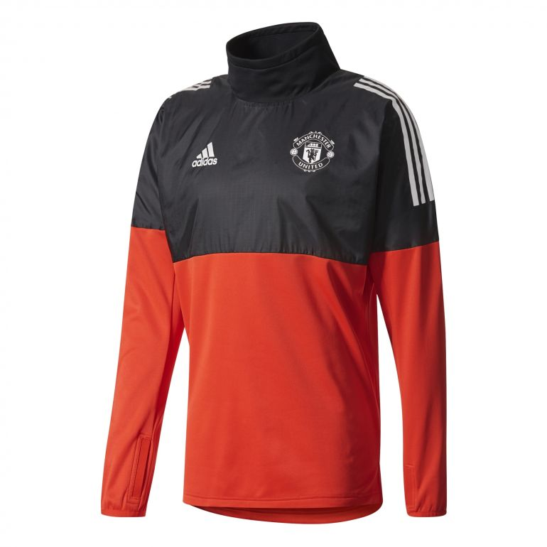 Sweat Manchester United Hybrid Top rouge noir 2017/18