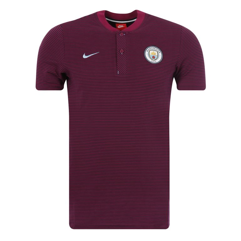 Polo Manchester City authentique rouge 2017/18