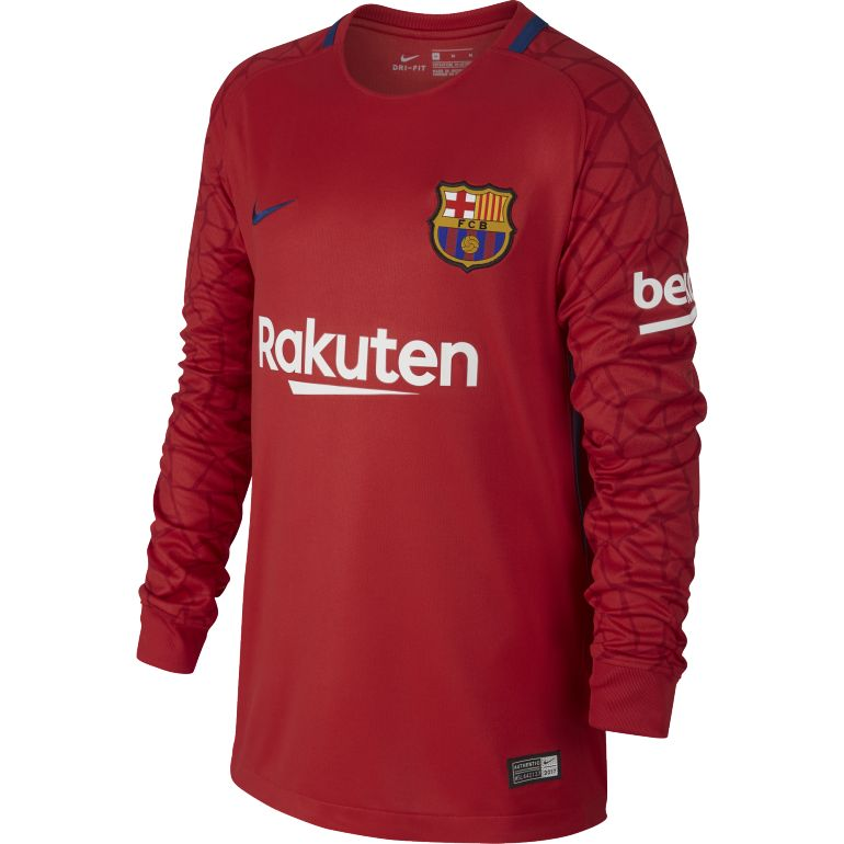 Maillot Gardien Junior FC Barcelone rouge 2017/18