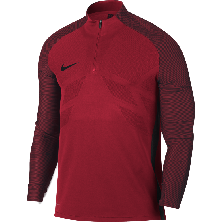 Sweat zippé Nike technique rouge 2017/18