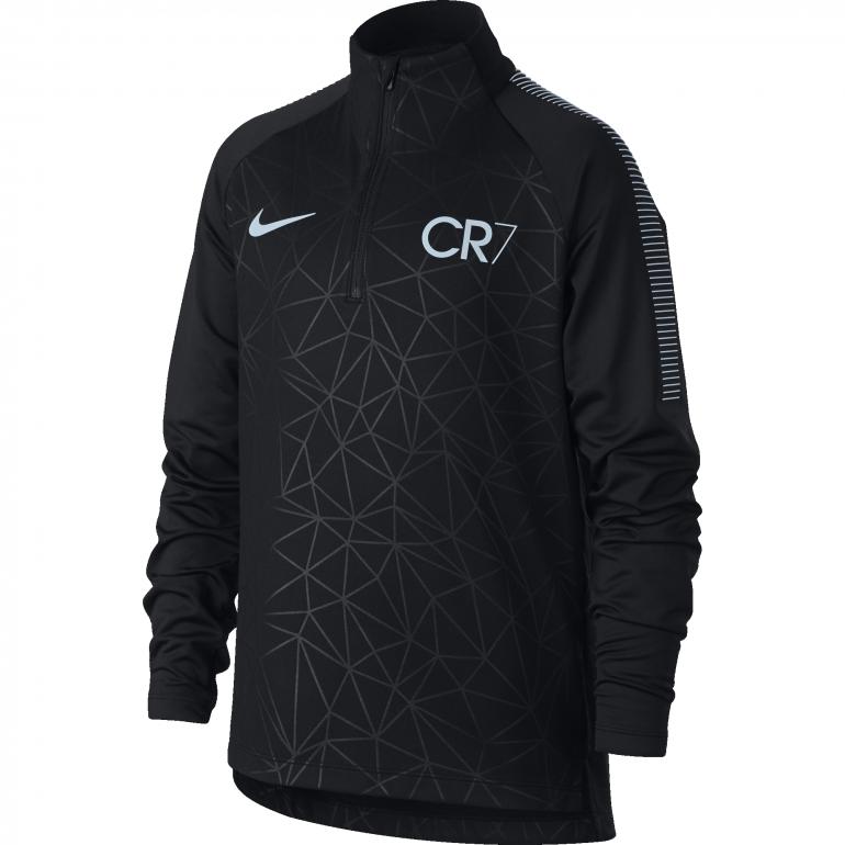 Sweat zippé junior CR7 noir gris 2017