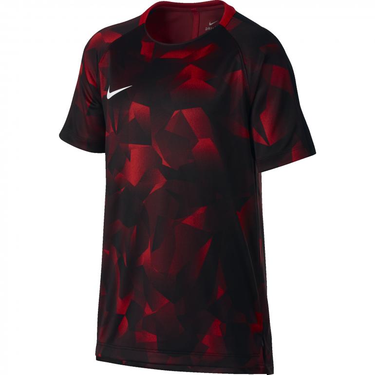 Maillot entraînement junior Nike Squad camouflage rouge gris 2017/18