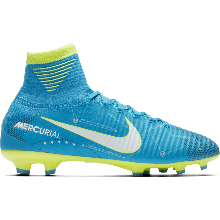 Mercurial Superfly junior Neymar montantes moulés bleu