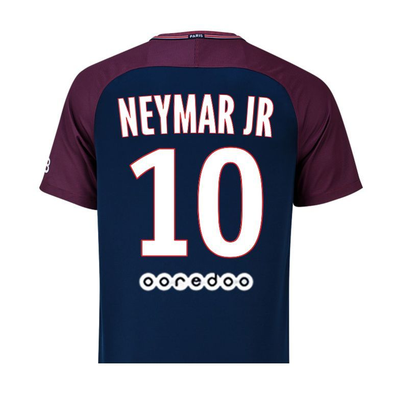 maillot junior neymar psg domicile 2017 18 sur. Black Bedroom Furniture Sets. Home Design Ideas