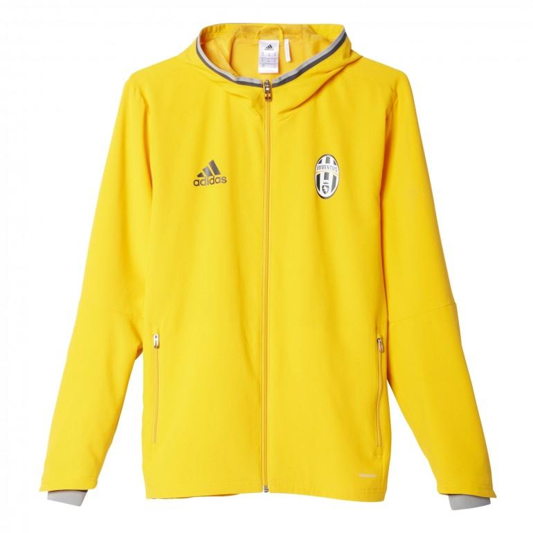 Veste survêtement Juventus avant-match jaune
