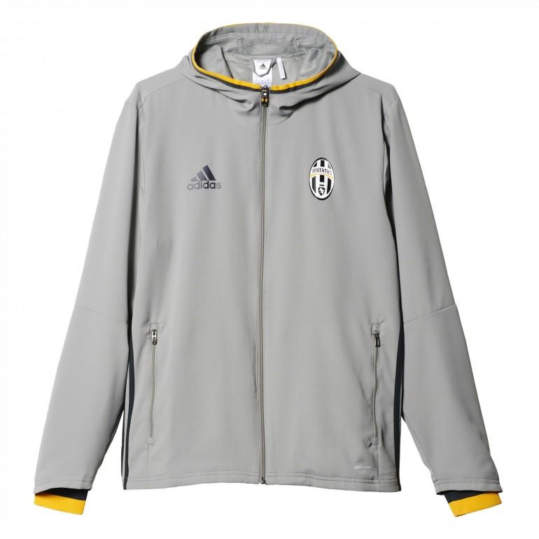 Veste survêtement entraînement Juventus avant-match grise