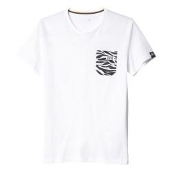 T-Shirt Juventus blanc poche zébrée