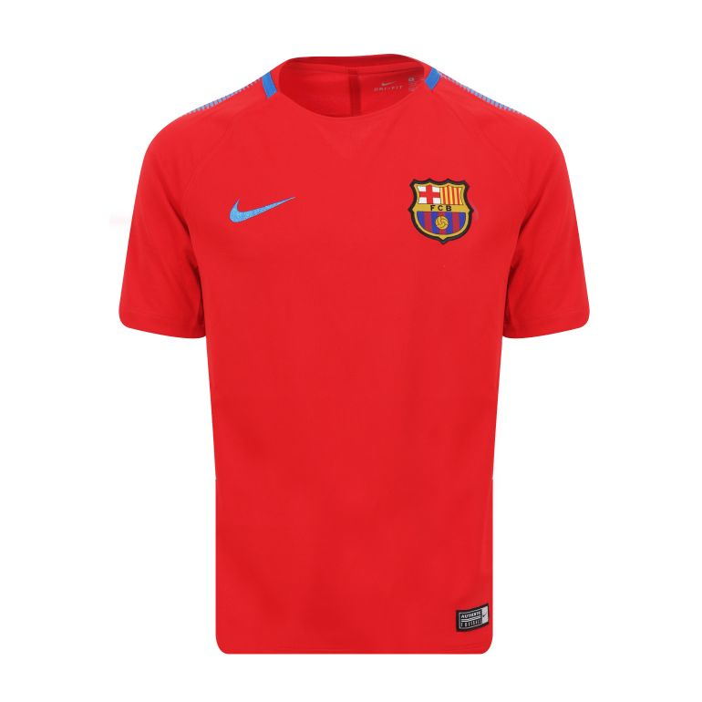 Maillot entraînement junior FC Barcelone rouge 2017/18