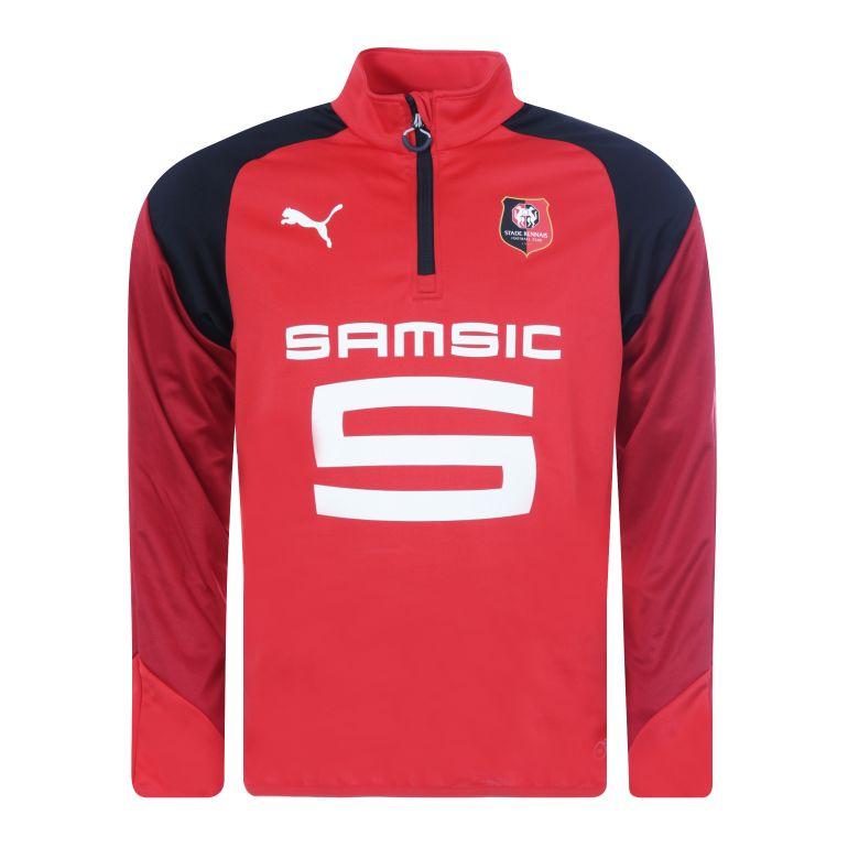 Sweat zippé Stade Rennais rouge 2017/18