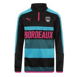 Sweat zippé junior Bordeaux noir 2017/18