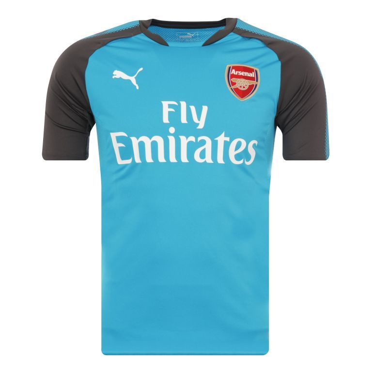Maillot entraînement junior Arsenal bleu gris 2017/18