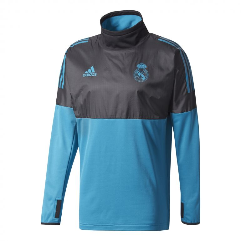 Sweat Real Madrid hybrid europe bleu noir 2017/18