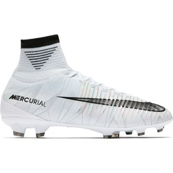 Mercurial Superfly V junior CR7 montantes FG blanc
