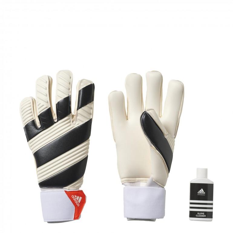 gants CLASSIC PRO rayés blanc et noir - gardien de but