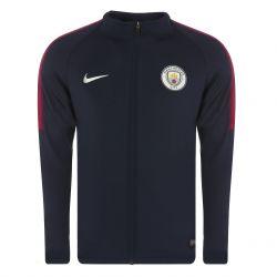 Veste survêtement Manchester City technique bleu foncé 2017/18