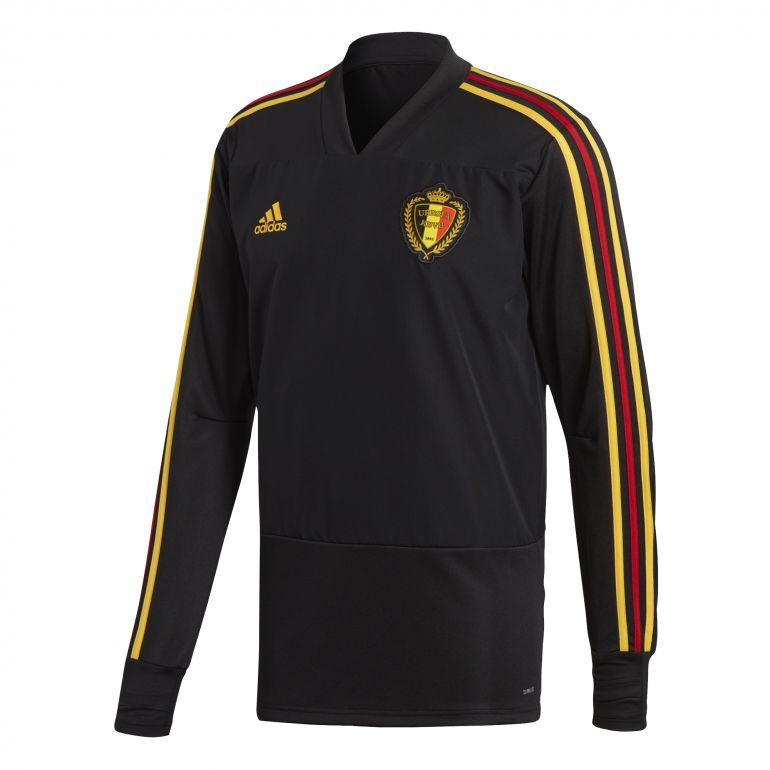 Sweat entraînement Belgique noir 2018