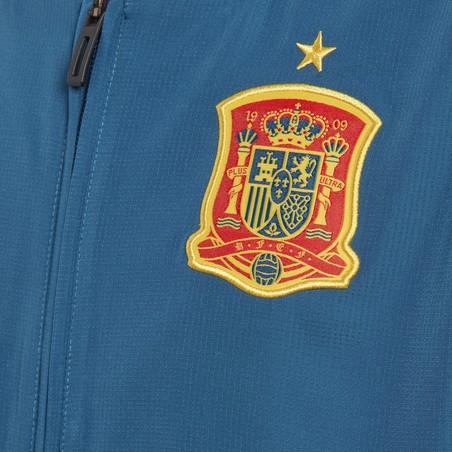 Veste survêtement junior Espagne microfibre bleu 2018