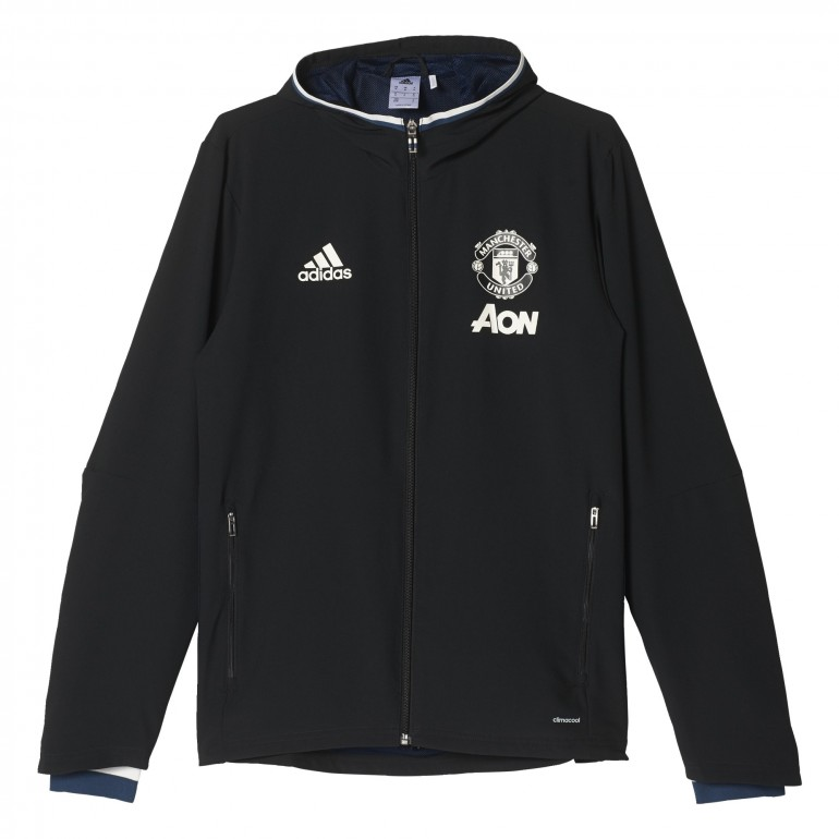 Veste avant-match Manchester United noir 2016 - 2017