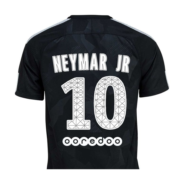 maillot neymar psg third 2017 18 sur. Black Bedroom Furniture Sets. Home Design Ideas