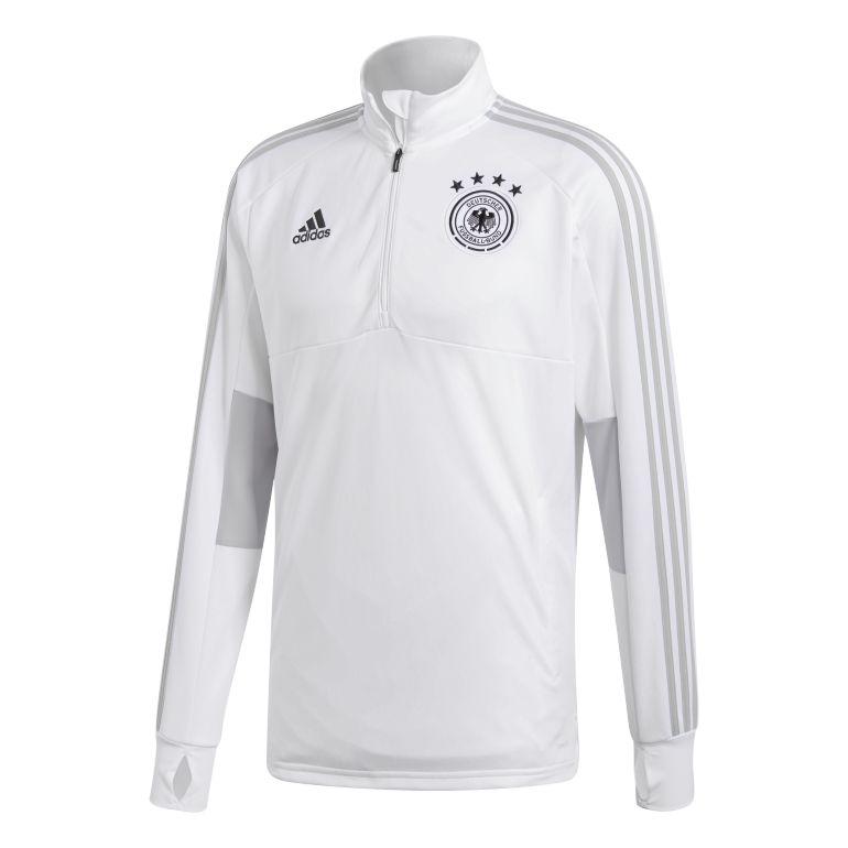 Sweat zippé entraînement Allemagne blanc 2018