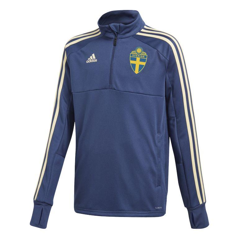Sweat zippé entraînement junior Suède bleu foncé 2018