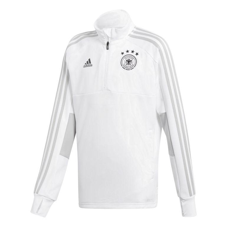 Sweat zippé entraînement junior Allemagne blanc 2018