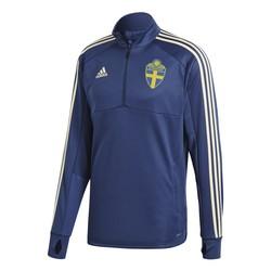 Sweat zippé entraînement Suède bleu foncé 2018