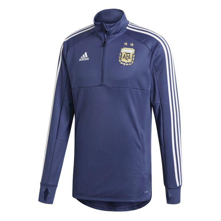 Sweat zippé entraînement Argentine bleu foncé 2018