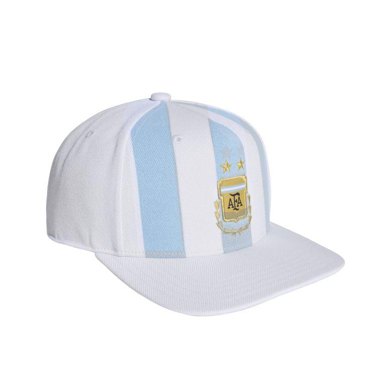 Casquette visière plate Argentine blanc 2018