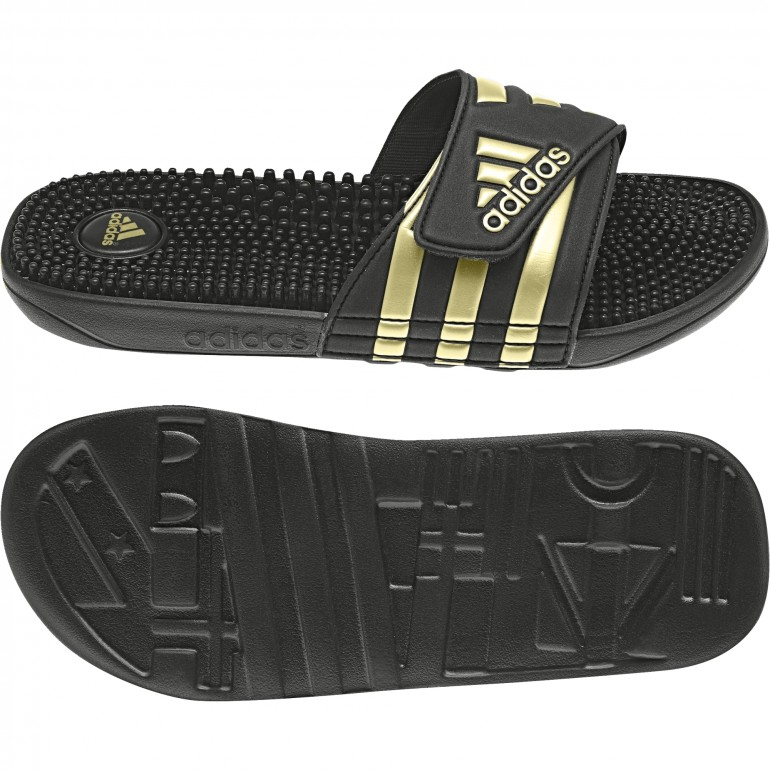 sports shoes fbc3f dd82d adidas. Sandales ADISSAGE noir or