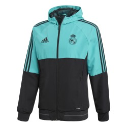 Veste survêtement Real Madrid vert noir 2017/18