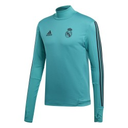 Sweat entraînement Real Madrid vert 2017/18