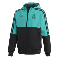 Veste survêtement junior Real Madrid vert noir 2017/18