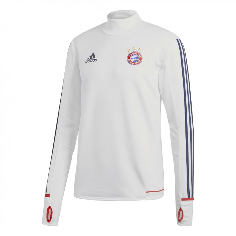 Sweat entraînement Bayern Munich blanc 2017/18