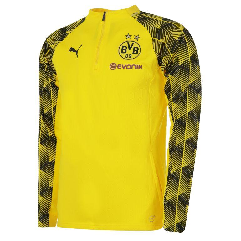 Sweat zippé entraînement Dortmund jaune 2017/18