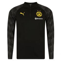 Sweat zippé entraînement Dortmund noir 2017/18